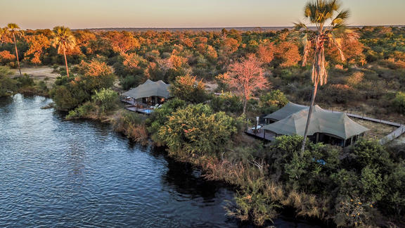 Old Drift Lodge, Victoria Falls - Aerial Views of the Lodge