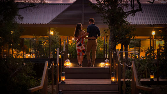 Old Drift Lodge, Victoria Falls - Arrival at the lodge