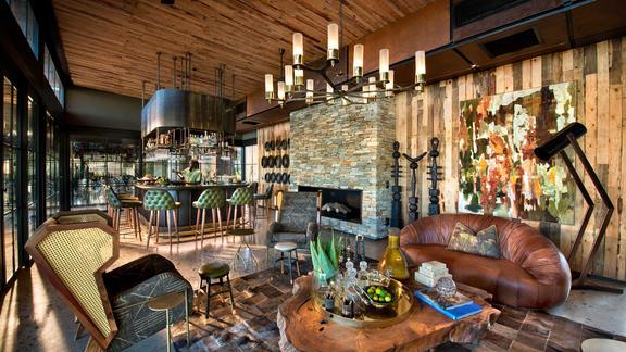 andBeyond Tengile River Lodge - Main area bar and lounge