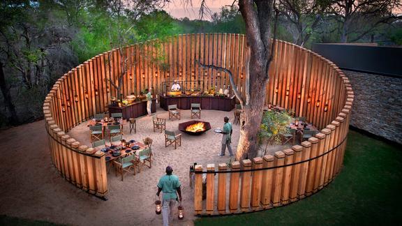 andBeyond Tengile River Lodge - Main area boma