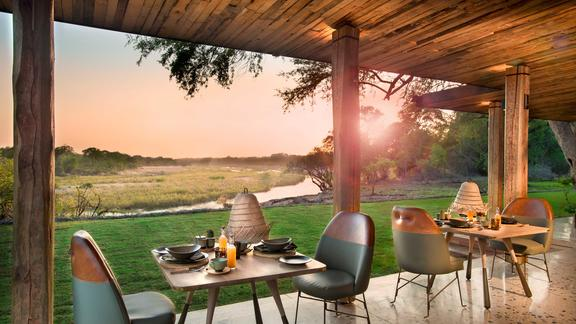 andBeyond Tengile River Lodge - Dining room view