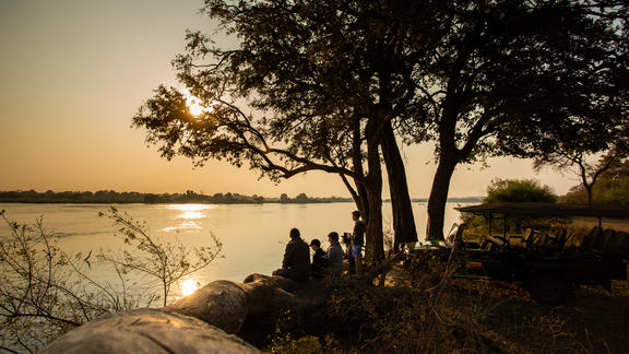 Sunset over the Zambezi River - Sunset over the Zambezi River