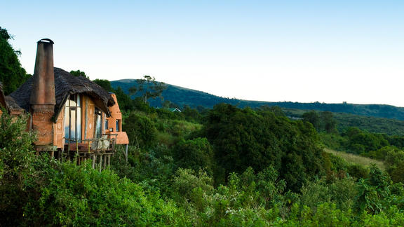 Ngorongoro Crater Lodge - Perched on the edge of the famous Ngorongoro Crater in Tanzania