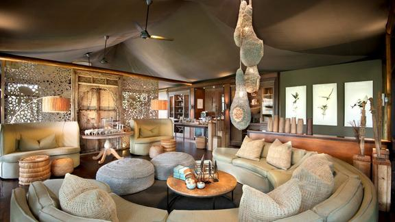 Ngala Tented Camp guest area -