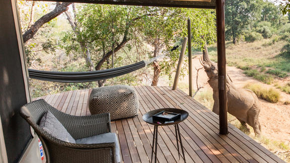 Private Deck - Luxury Tent -
