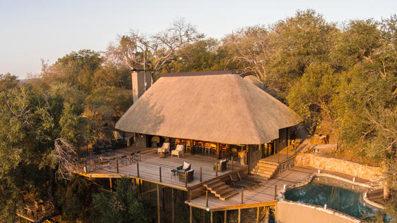 Aerial View of Garonga Main Lodge -