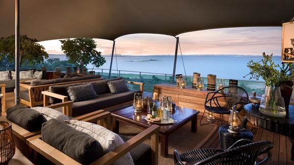 Bumi Hills Safari Lodge - Main Area with View of Lake Kariba