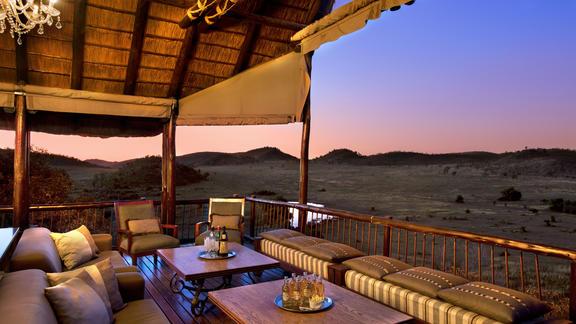 View of Pilanesberg from Tshukudu Lodge  - View of Pilanesberg from Tshukudu Lodge