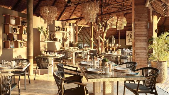Victoria Falls River Lodge - The mainland restaurant
