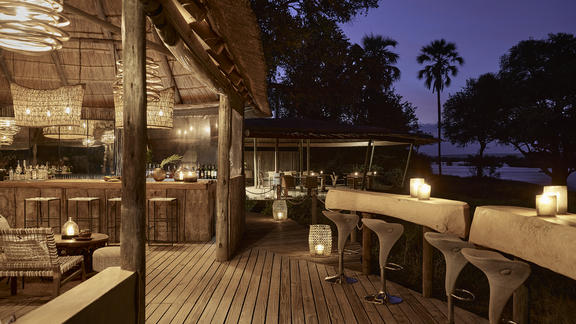 Victoria Falls River Lodge - Luxury Tented Suites - The Riverside bar