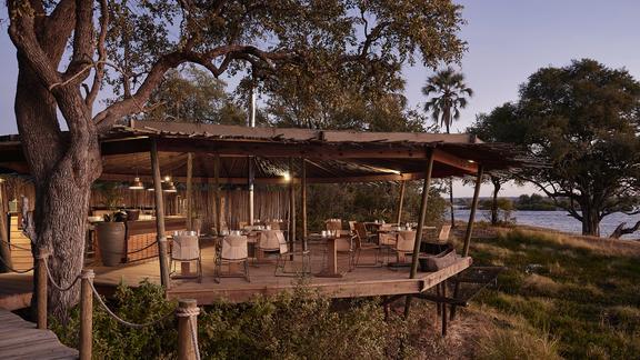 Victoria Falls River Lodge - The Riverside dining area