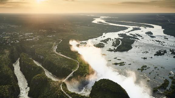 Victoria Falls River Lodge - Upstream from one of the 7 Natural Wonders of the World