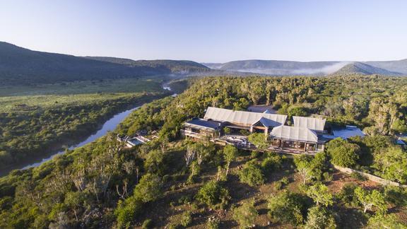 Kariega Settlers Drift - Aerial view of lodge