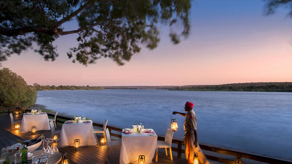 River Lodge: view from the deck -