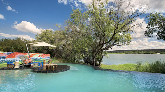 River Lodge pool and river -
