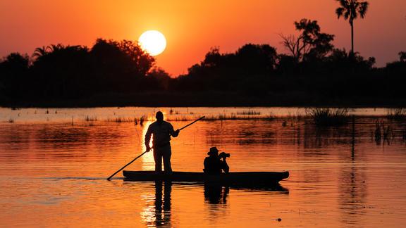Jao Camp - Mekoro sunset